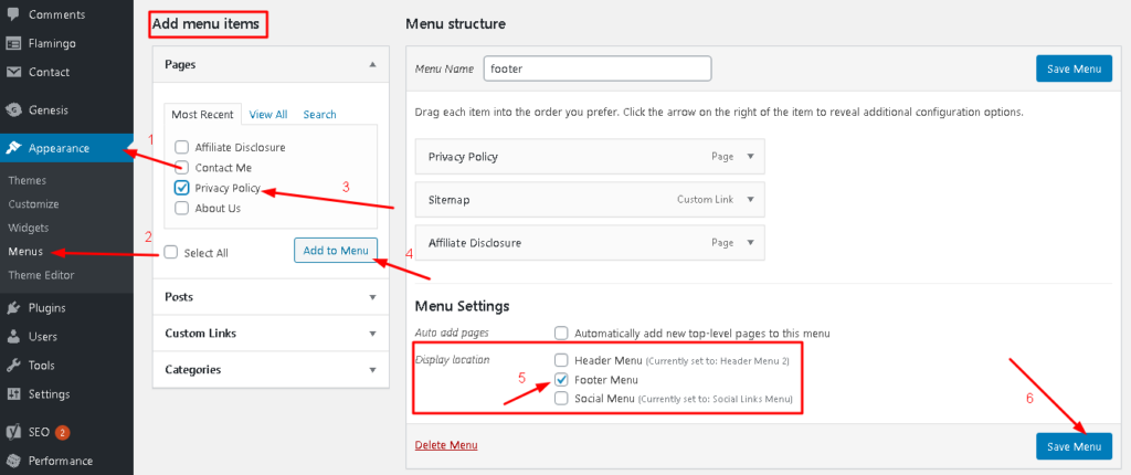 This is exactly how to add pages to menus