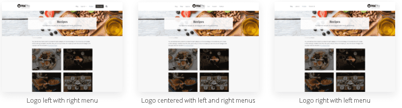 see the Mai Pro Theme Review Logo and Menu Placement
